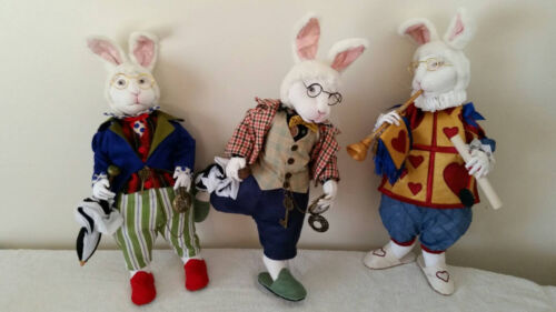"""*NEW* CLOTH ART DOLL (PAPER) PATTERN """"THE WHITE RABBIT"""" BY SUZETTE RUGOLO"""