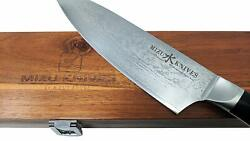 Japanese Full Tang Professional Beautiful 8 Chef's Knife G10 Handle HRC 62 Gift