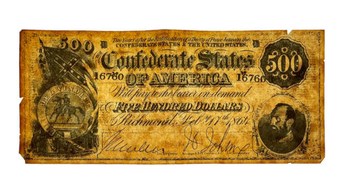 $500 1864 Confederate States of America