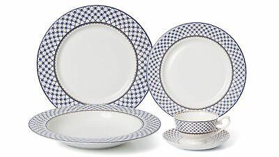 20 pc villa azure dinner set