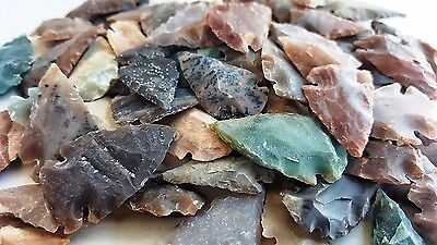 50 PCS LOT OF ARROWHEADS SPEARHEAD BOW POINTS HUNTING FLINT STONE COLLECTION