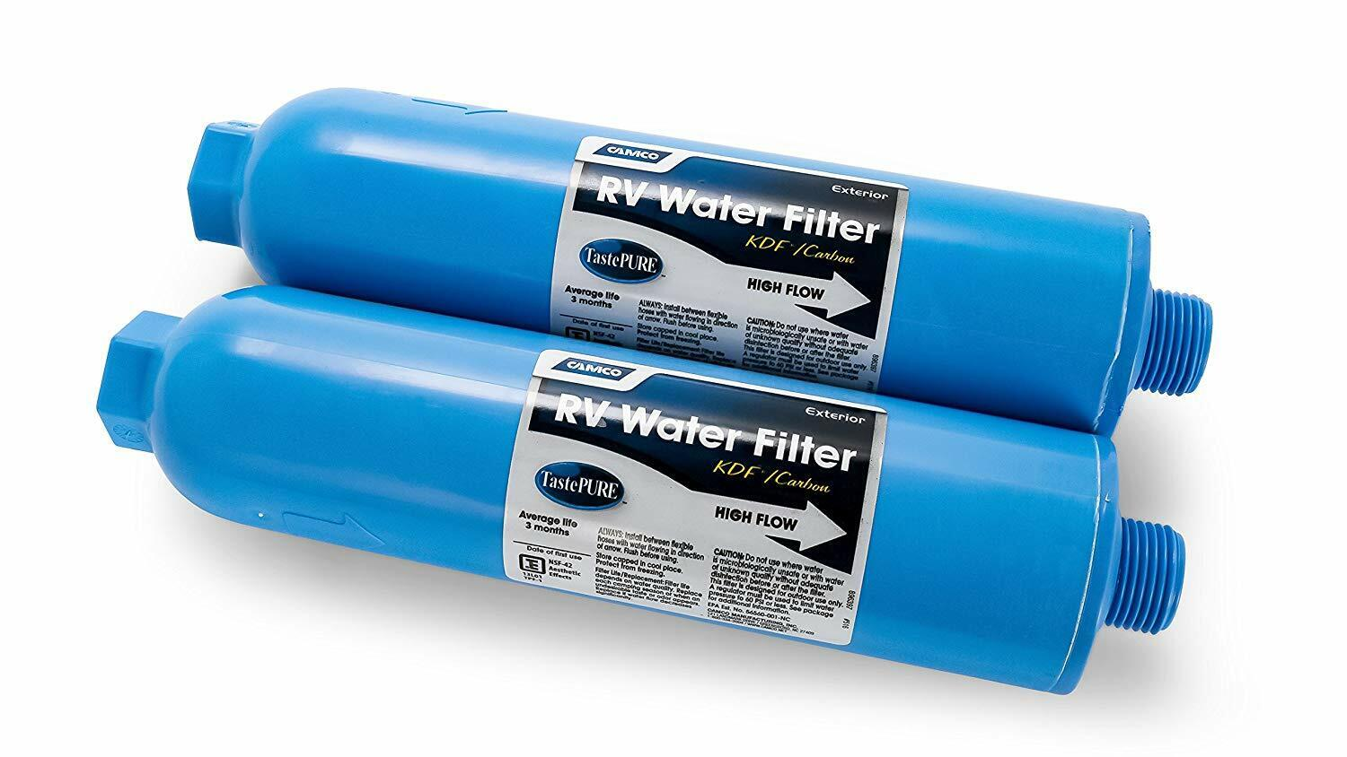 rv water filter inline 2 pack camping