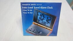 Sharper Image Extra Loud Travel  Alarm Clock SI323 # 2687 FACTORY SEAL