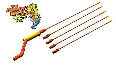 Flexisnake Drain Weasel Sink Snake -includes Rotating Handle And 5 Refills