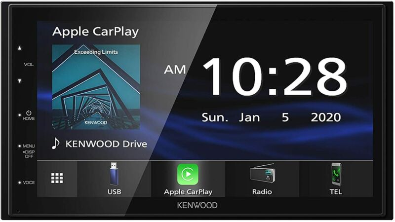 """Kenwood DMX47S 6.8"""" Capacitive Car Stereo Receiver, Apple CarPlay, Android Auto"""