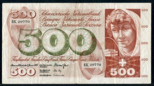 Switzerland 1970, 500 Franken, P51h, VF