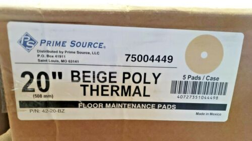 """PRIME SOURSE Beige Poly Thermal Burnish Pad - 20"""", 40727351044498,75004449"""