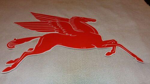"""VINTAGE 1953 MOBIL MOBILGAS PEGASUS HORSE 29"""" PORCELAIN METAL GASOLINE OIL SIGN!"""