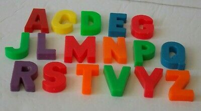 FISHER PRICE Vintage LITTLE PEOPLE #923 School 17 MAGNETIC Alphabet LETTERS LOT