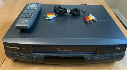 Panasonic (PV-8451) - 4-Head Omnivision VHS Cassette Player - w/ Remote Control