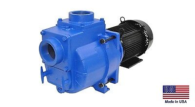 Trash Sewage Pump Industrial - 4 Ports - 15 Hp - 230460v - 3 Ph 32400 Gph