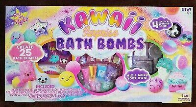 Just my Style Kawaii Magical Surprise Bath Bomb Kit create 25 FUN Bath Bombs Bath Bomb Kit