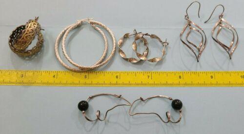 Lot of 5 Sterling 925 Silver Earrings: Hoops 23.3 gram weight -JB#27