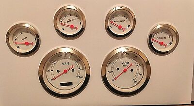 Classic 6 Gauge Set Electrical Speedometer Street Hot Rod Chevy Ford (Electric Sunnies)