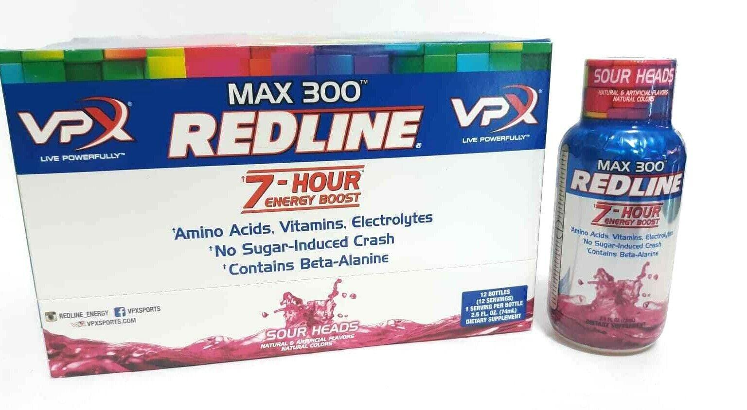 VPX Redline Power Rush 7-Hour Energy Max 300 Supplement, 2.5oz (Select Flavor)