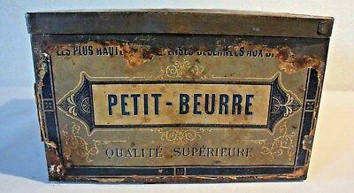 C36 Authentique boite en métal PETIT BEURRE 50' 60'