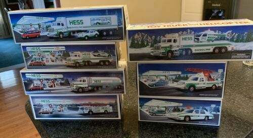 Lot 7 Hess Toy Trucks Ranging between 1989 - 1995 No Duplicates Excellent in Box