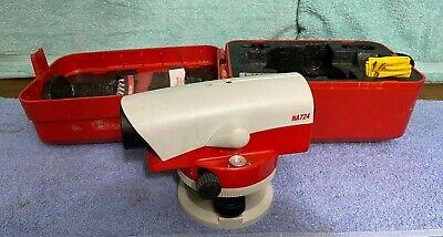 Leica Na724 Transit Auto Automatic Level Optical Surveying With Case