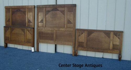 61836  Pair Oak Twin Size Bed w/ Original Side rails