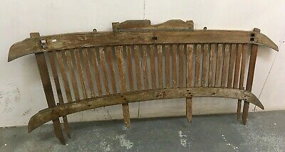 Antique Wooden Cart Panel / Headboard Bed Ends Bedsteads - RARE!