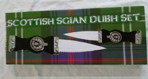Celtic Irish Scottish Knife Sgian Dubh Dirk Dagger Thistle Box Set Gaelic -NEW
