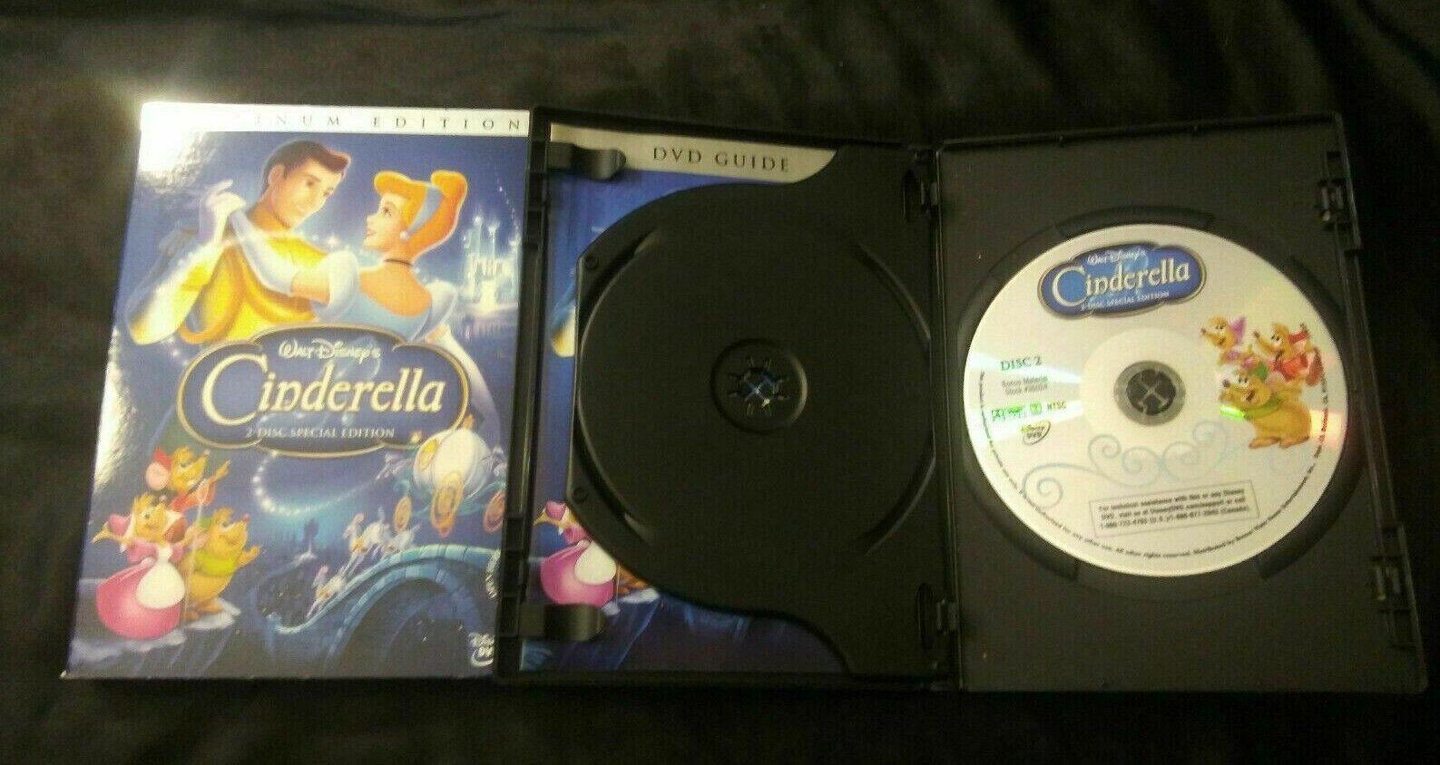 Disney Cinderella DVD 2 Disc Platinum Collector Edition Slipcover Walt Set Kids - $8.00