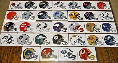 NEW NFL Helmet Stickers PICK ANY TEAM! Football Logo Decal Peel & Stick Paper](Nfl New Helmets)