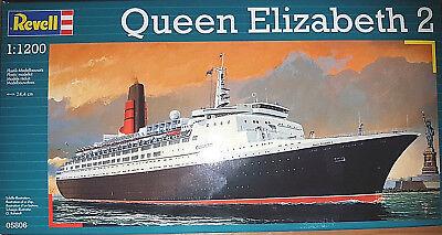 Queen Elizabeth 2 Nave da Crociera - Revell Kit 1:1200 - 05806 - Nuova