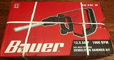 Bauer Sds Max Type Pro Demolition Hammer Kit 1900 Bpm 1631e-b Prr