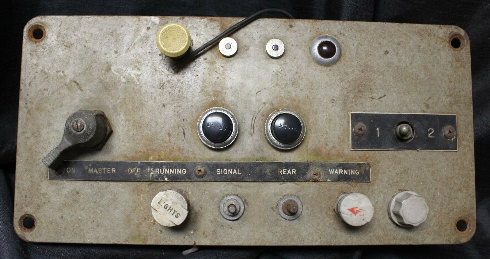 1964 Seagrave Firetruck Dual Master Switch Panel 1 & 2 Starter Signal Warning