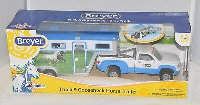 Breyer Stablemates Truck and Gooseneck Trailer Set # 5349 new in Box