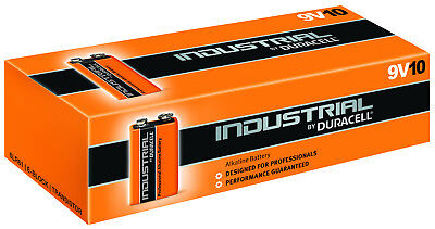 DURACELL Industrial E-Block 9,0 Volt 785 mAh 10er Tray 6LP3146 9V-Block 9v Volt Duracell Batterien