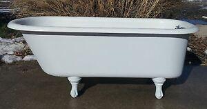 Original Antique Clawfoot Cast Iron Claw Foot Tub Bath Tub Free Delivery EBay