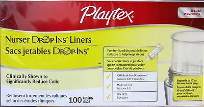 Playtex Drop In Liners for Nurser Bottles, 100 Count*** Disposable Feeding Drop In Liners