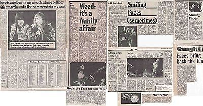 THE FACES : CUTTINGS COLLECTION -interviews etc- 70s Rod Stewart