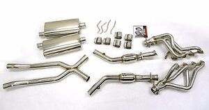 OBX Stainless Steel Header Manifold For 2003 2004 Crown Victoria V8 2V 4.6L