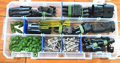 DELPHI WEATHER PACK CONNECTOR MINI KIT 16-14 WS 102 PIECES   WEATHERPACK