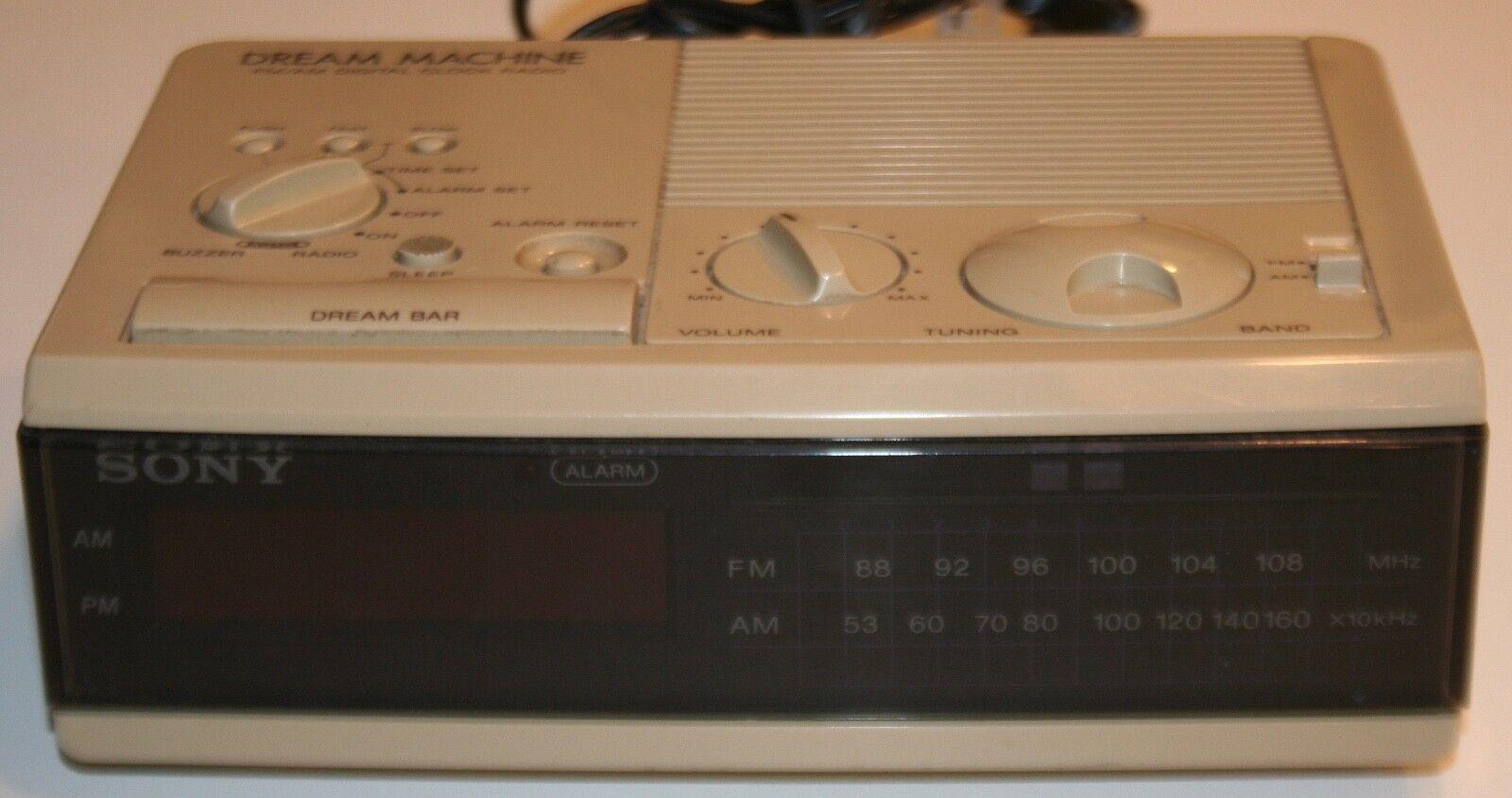 Vintage Sony ICF-C3W Alarm Clock Radio FM/AM Digital Wood Grain Dream Machine
