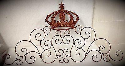 Relief Metall Ornament Kupfer Krone Wand Schrank Dekoration Vintage Geschenk1