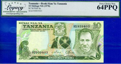 TANZANIA - Benki Kuu Ya Tanzania 10 SHILINGI ND (1978) SCWPM# 6c -New- 939403