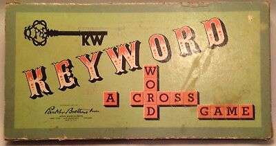1953 Parker Brothers Inc KEYWORD A Crossword Board Game
