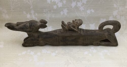 Antique SOGO Indonesian Hand Carved Wood Carving Figurine