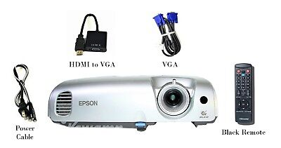 Epson PowerLite S3 Portable LCD Projector 1600 ANSI HD 1080i HDMI-Adapter bundle