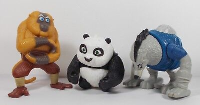 Kung Fu Panda Toy Figures X 3. Cake Toppers. Party Bag Fillers. Gifts. Kids.