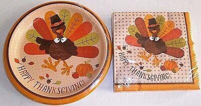 THANKSGIVING Paper Plates & Napkins  PILGRIM - Thanksgiving Paper Products
