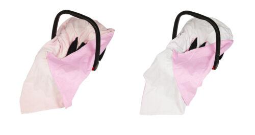New Baby Pink Polka Dot Wrap For Car Seat / Travel Wrap / Car Seat Blanket Wrap
