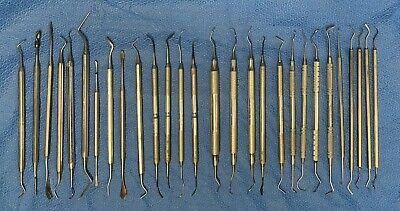 Lot Dental Schein Brasseler American Suter Goldman Miltex Scaler Pic Carvers