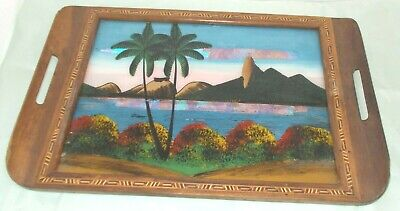 GOOD QUALITY VINTAGE INLAID TRAY FROM RIO DE JANERIO IN VERY GOOD CONDITION