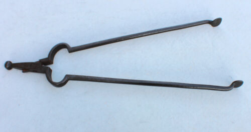 Antique Colonial Fireplace Hearth Tongs Wrought Iron Handmade Williamsburg