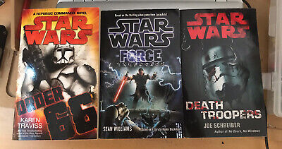 Star Wars novels x 3 Death Troopers, Force Unleashed And Order 66.